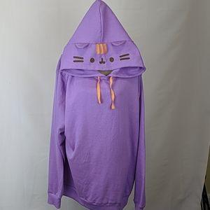 Purple Pusheen Pullover Hoodie